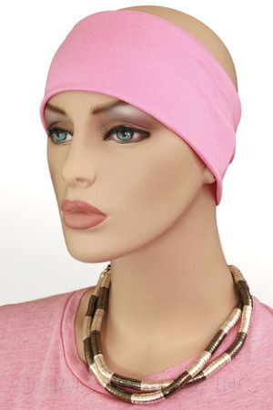 $9.50 - Pink Headband  - @ hatsforyou.net #cancer #chemo #alopecia #hair loss