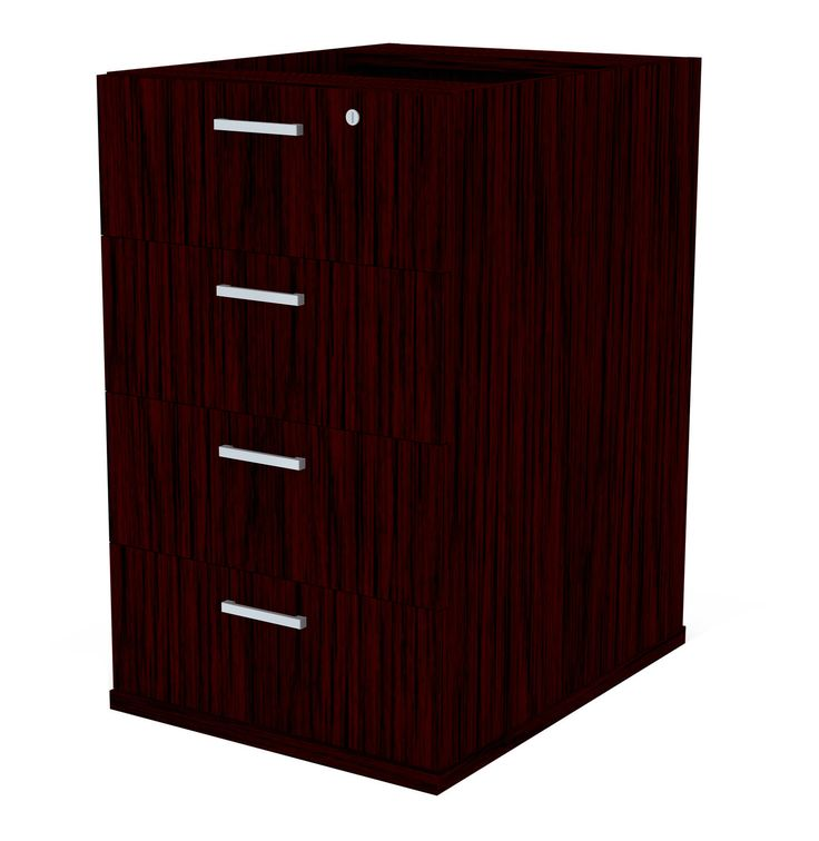 Platinum 4 Draw Desk High Pedestal Mahogany - Lowest Prices & Specials Online | Makro