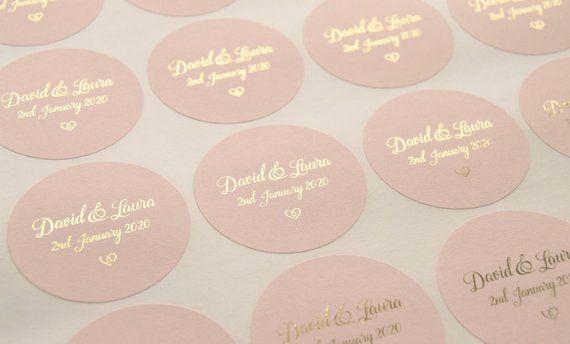 Foil Wedding Stickers Rose Gold Wedding Stickers Blush Etsy Wedding Stickers Wedding Favor Labels Wedding Labels