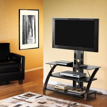 TV Stand with Removable Mount, for Flat-Panel TVs up to 42 inch, Brown