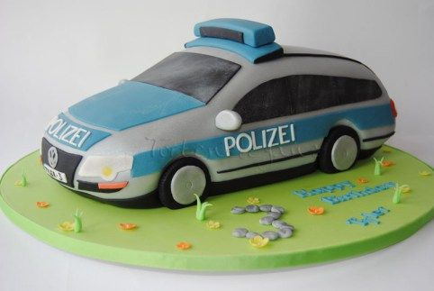 Germany Police Car Cake