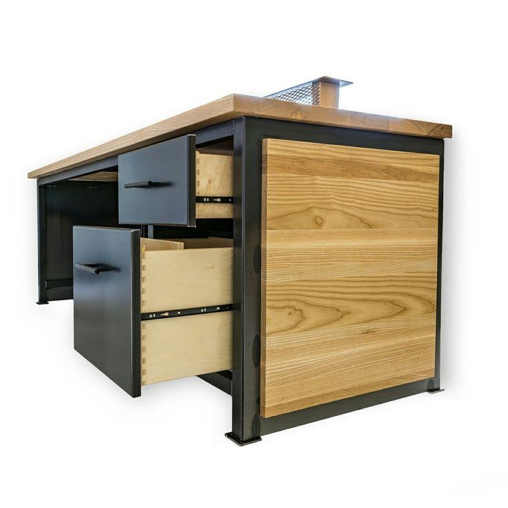 industrial style office desk modern industrial desk. reception desk secretary sales office custom industrial ash u0026 steel furniture style modern