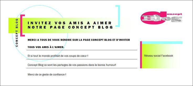 Merci de cliquer j'aime sur la page facebook Concept Blog https://www.facebook.com/ConceptBlog