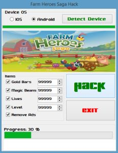The fastest, easiest way to get Farm Heroes Saga Hack – Unlimited Gold Bars Cheats Engine is from presented on this website. Updated version of Farm Heroes Saga Hack – Unlimited Gold Bars Cheats Engine running up to date.