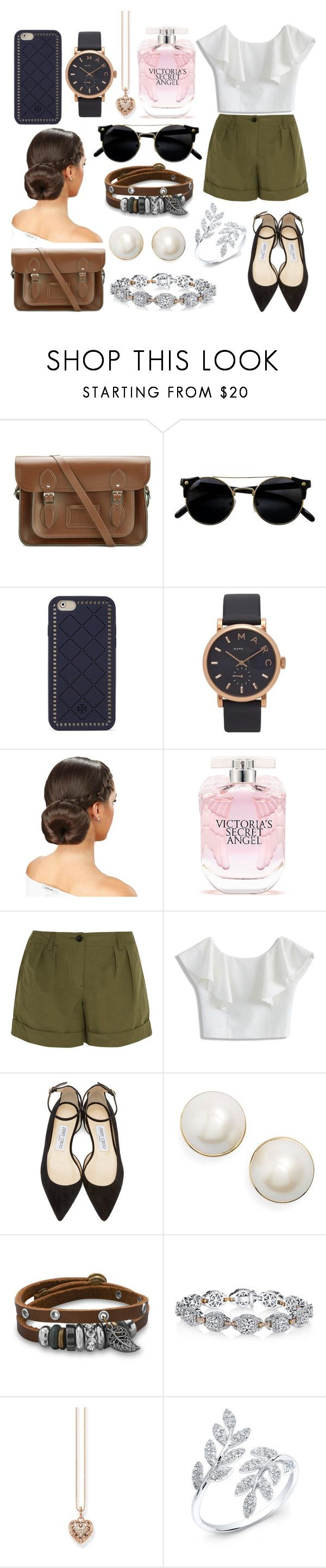 """""""Teresa"""" by magnificentmichelle ❤ liked on Polyvore featuring The Cambridge Satchel Company, Tory Burch, Marc Jacobs, Victoria's Secret, Burberry, Chicwish, Jimmy Choo, Kate Spade, BillyTheTree and Harry Kotlar"""