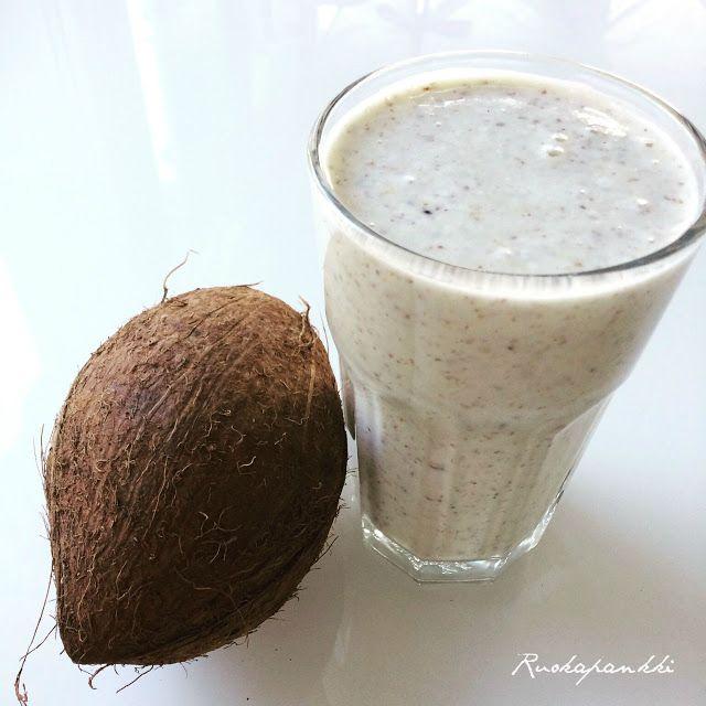 Ruokapankki: Kookossmoothie #ruokapankki #smoothie #kookossmoothie #coconut #drink #ruokablogi #foodblog