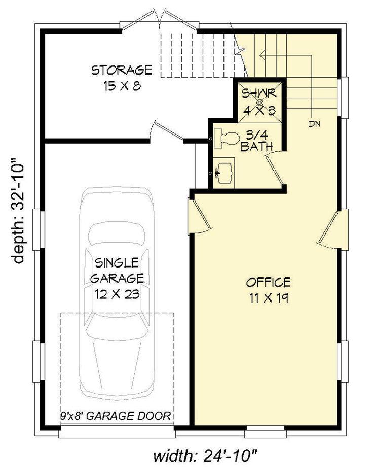 Best 20 Detached garage plans ideas on Pinterest Garage with