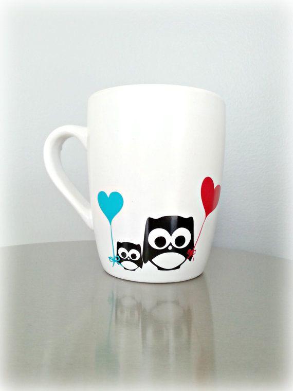 Owl Mug Owl Gift Love Owls Custom Coffee Mug by LoveInTheCityShop