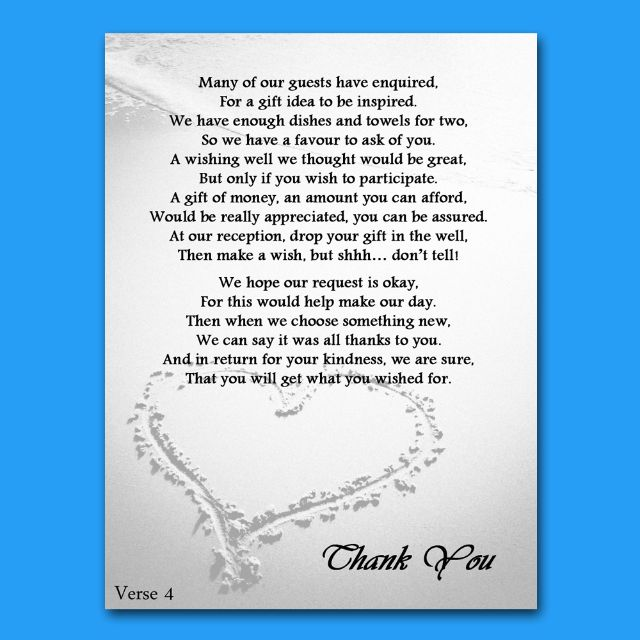 Travel Gift Vouchers Wedding Gifts: Details About Wedding Money Gift Voucher Poem Cards For
