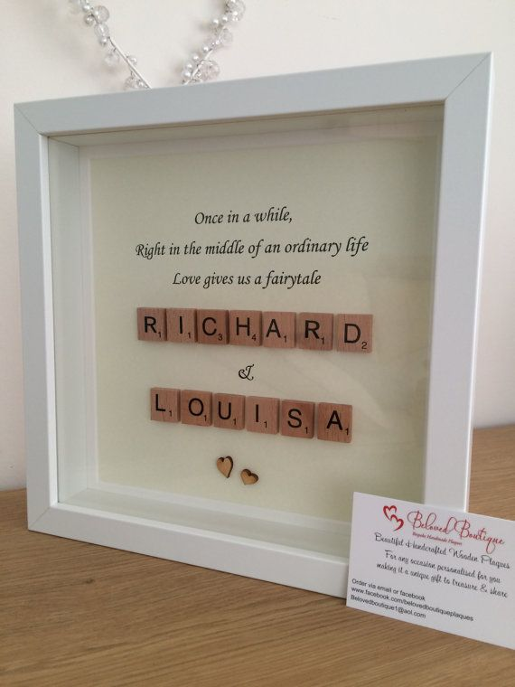 fairytale scrabble frame wedding engagement love