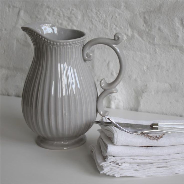 Large Grey Pitcher