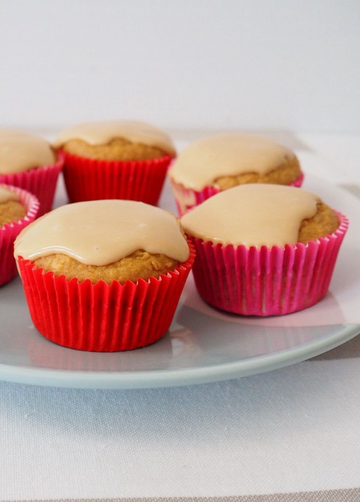Sweet Potato and Oat Muffins with Caramel Cream Cheese Icing