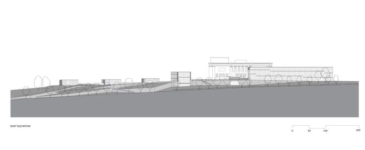 East Elevation for THE NELSON-ATKINS MUSEUM OF ART by Steven Holl Architects