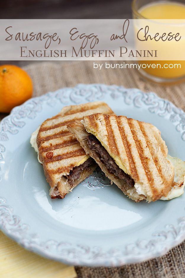 Sausage, Egg, and Cheese English Muffin Panini