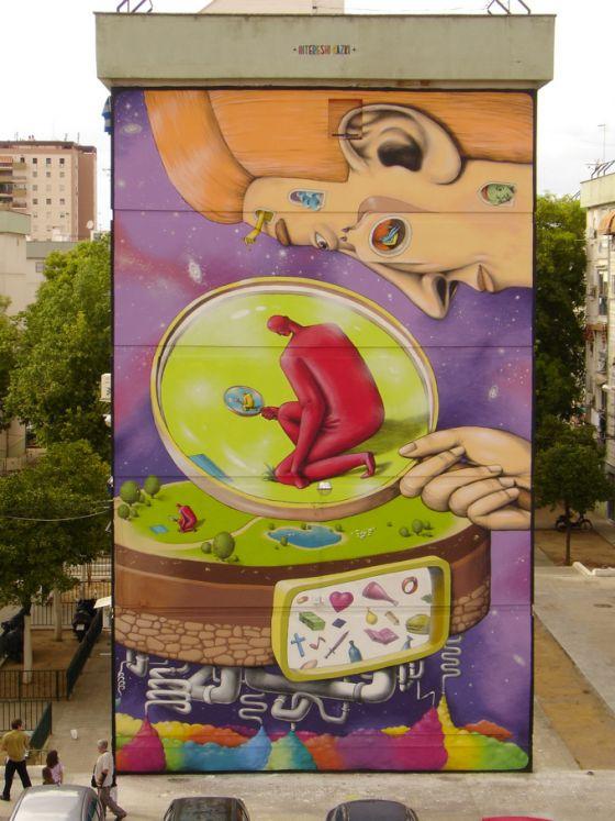 best graffitis en edificios images on pinterest urban art street art graffiti and d street art