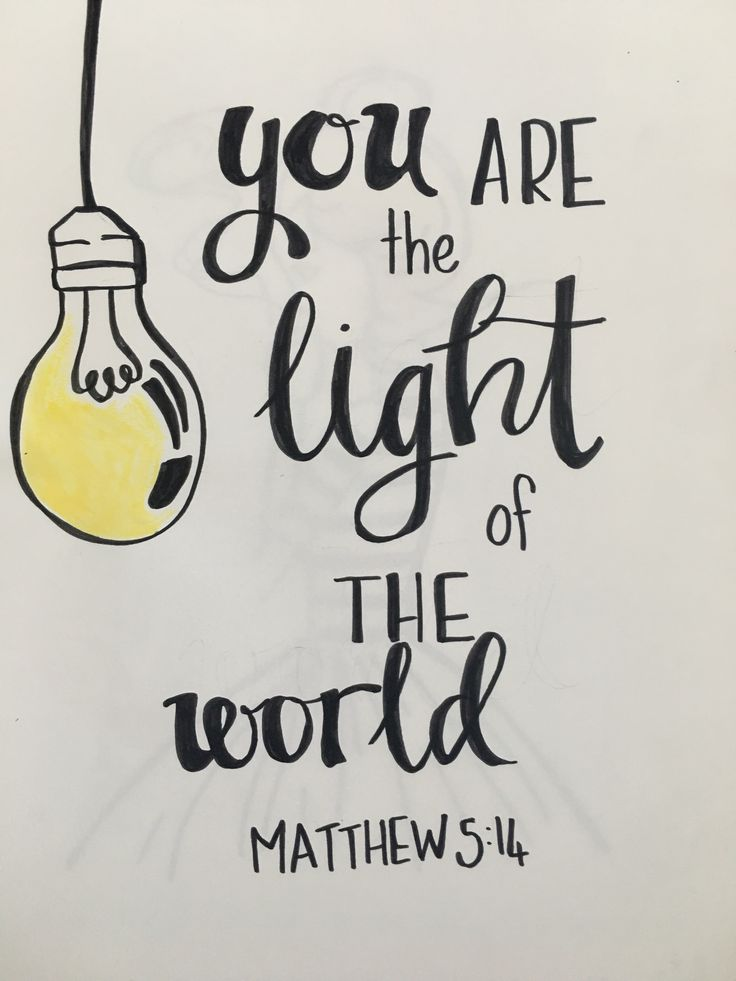Matthew 5:14 word art in marker and watercolor