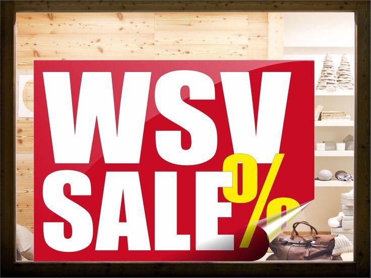 WSV Aufkleber - Winterschlussverkauf als Aufkleber.