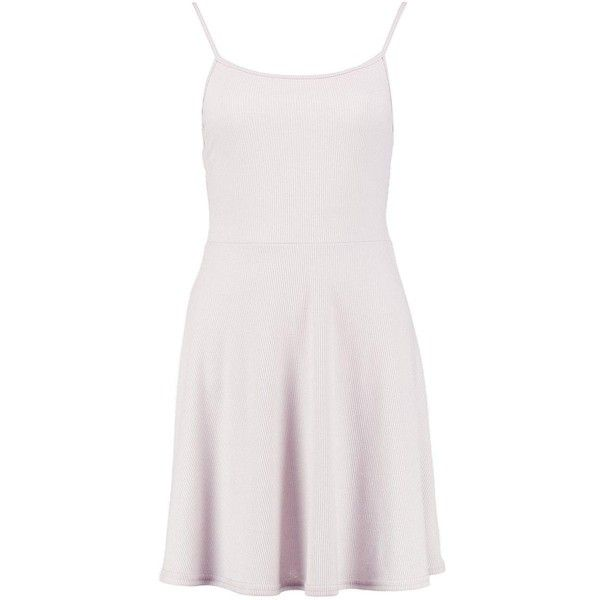 Boohoo Clarice Rib Skater Dress | Boohoo ($12) ❤ liked on Polyvore featuring dresses, white skater dress, bodycon cocktail dress, holiday dresses, white body con dress and special occasion dresses