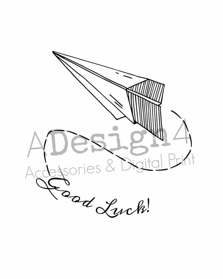 Minimalist Classroom Jobs : Printable paper plane write good luck digital