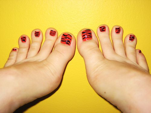 Image detail for -Toe nail designs gallery chinese tiger pedicure design in Black Toe ...