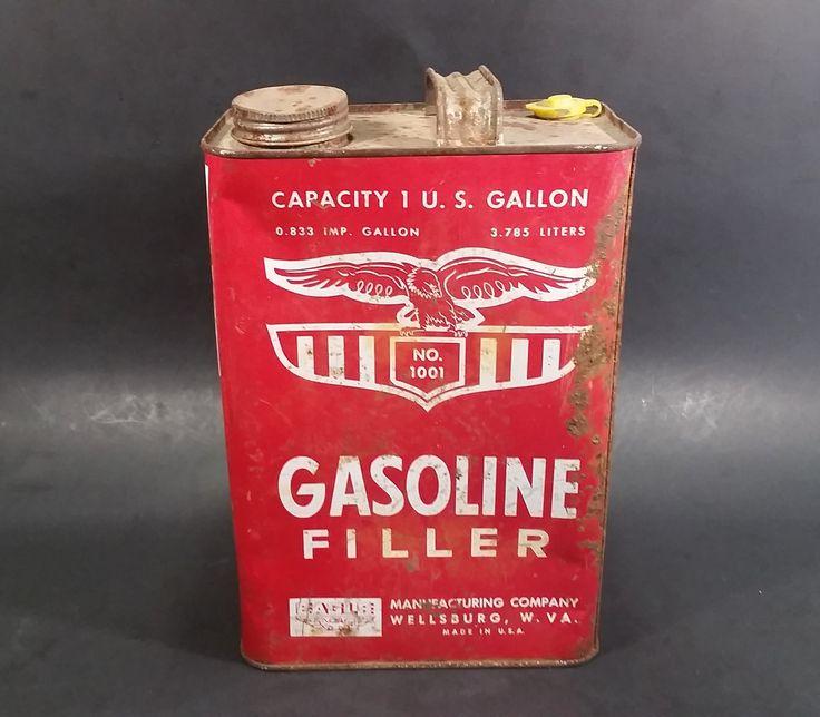 Vintage Eagle No. 1001 Gasoline Filler 1 U.S. Gallon Empty Can (No Spout) - Wellsburg, W. VA https://treasurevalleyantiques.com/products/vintage-eagle-no-1001-gasoline-filler-1-u-s-gallon-empty-can-no-spout-wellsburg-w-va #Vintage #Eagle #Manufacturing #Company #Gasoline #Gas #Filler #Gallon #Empty #Can #Canisters #Wellsburg #WestVirginia #MadeInUSA #Garage #Autos #Collectibles