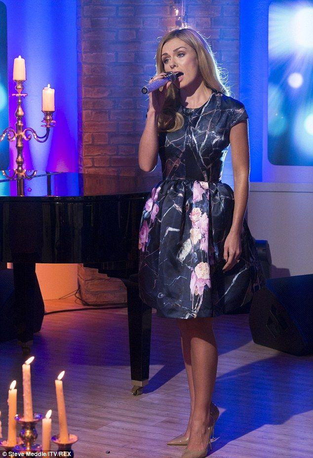 Morning song:Katherine Jenkins managed to look fresh as a daisy when she made an early mo...