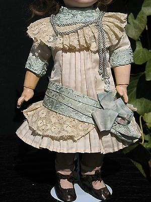 French Silk Doll Dress Hat for Antique Dolls   dress doll clothes outfit costumes