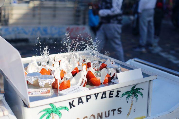 Coconuts in Athens, Monastiraki Square