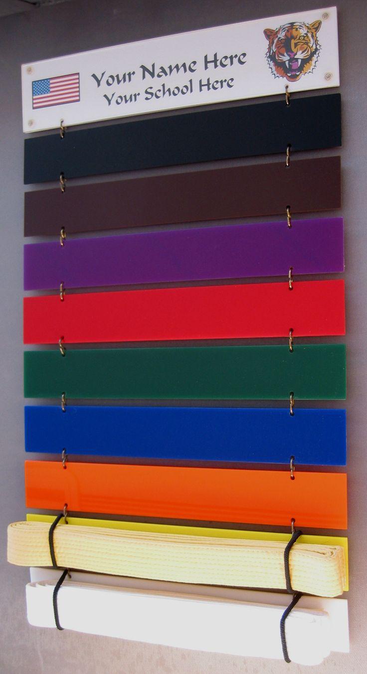 Karate belt display ideas - Martial Arts Belt Display By Kathol Kreations