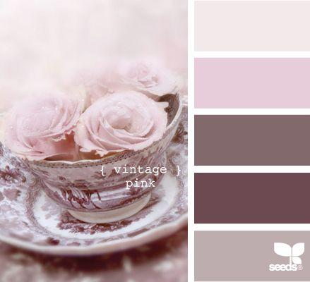 vintage pink: Glasses Tile, Design Seeds, Pink Colors, Vintage Pink, Colors Palettes, Colors Schemes, Rooms Colors, Colour Palettes, Girls Rooms