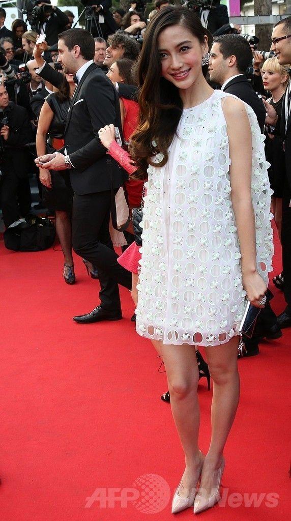 第67回カンヌ国際映画祭(Cannes Film Festival)で映画『Captives』の公式上映に出席した女優のアンジェラベイビー(Angelababy、2014年5月16日撮影)。(c)AFP/LOIC VENANCE ▼26May2014AFP|<第67回カンヌ国際映画祭>「クリスチャン ディオール」を着用したセレブをチェック! http://www.afpbb.com/articles/-/3015602 #Cannes_Film_Festival_2014 #Angelababy