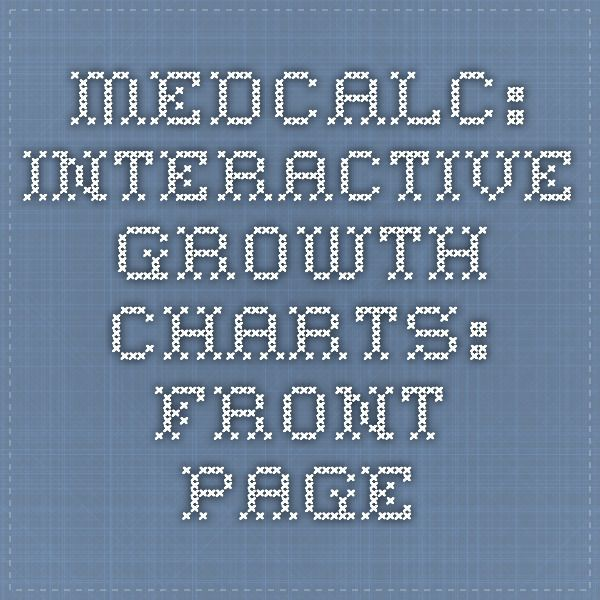 MedCalc: Interactive Growth Charts: Front Page