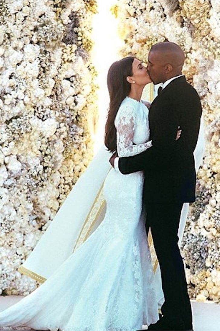Look Back At Kim Kardashian S Stunning Givenchy Wedding Gown Kardashian Wedding Kim Kardashian Wedding Dress Kim Kardashian Wedding