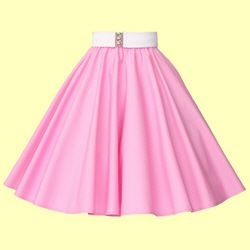 ERMERGERD the perfect skirt! Pink circle skirt--Rose Tyler cosplay (S2E7 The Idiot's Lantern). About $40 USD. Pair with a sparkly cami