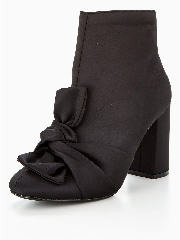 V by Very Dance Bow Satin Ankle Boot - Black, https://www.littlewoodsireland.ie/v-by-very-dance-bow-satin-ankle-boot-black/1600204537.prd