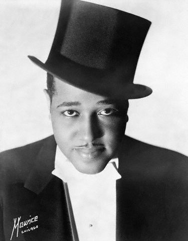 "Duke Ellington (1899 - 1974) Jazz bandleader and composer, songs include ""Mood Indigo"" and ""Sophisticated Lady"", he first gained fame with his radio broadcasts from the Cotton Club, he also wrote music for and appeared in a number of movies"