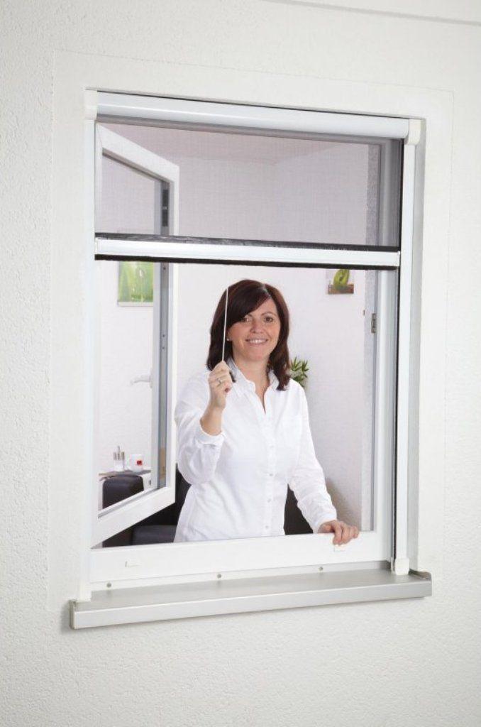 Moustiquaire fenêtre enroulable en aluminium recoupable L80 x H160 cm   Antimoustiques.fr