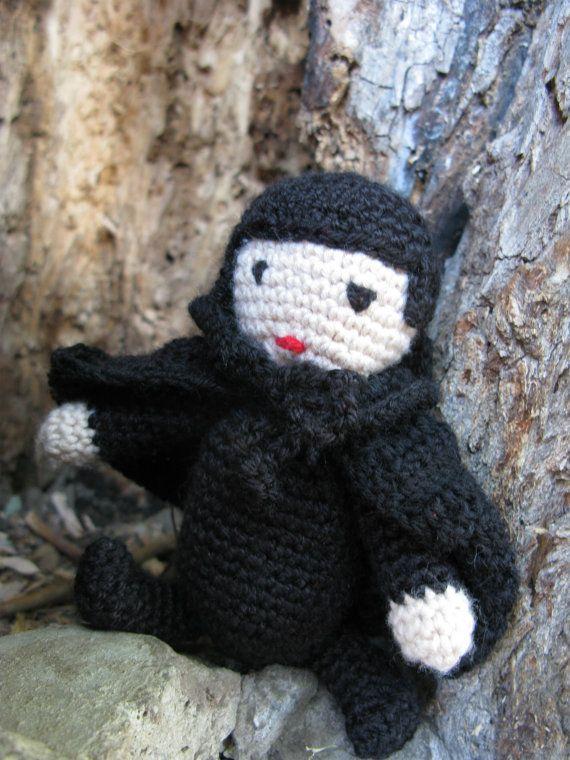 Вязание крючком Крошечные вампиров Дракула Хэллоуин Плюшевые игрушки с PointelleShop