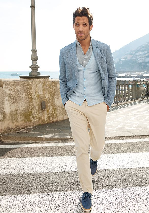 Smart Summer Linen Jackets And Shirts Benetton Man