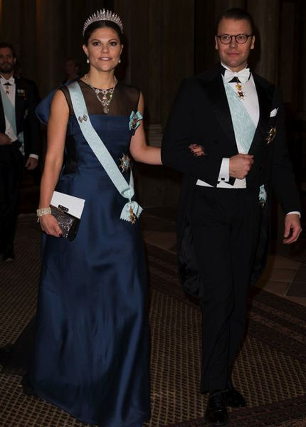 Royalty Speaking - December 11, 2014- The Swedish royal family arrives at the traditional dinner for Nobel Laureates at the Royal Palace