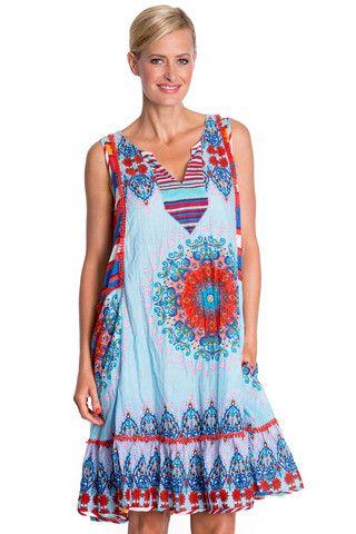 Hayman Sleeveless Dress in Ocean