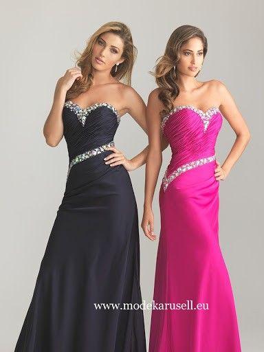 Abendkleid Online Bestellen in Schwarz Pink
