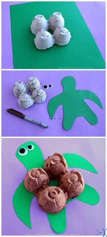 Egg Carton Turtle Craft for Kids | diypictures.net