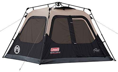 Coleman 4 Person Cabin Tent With Instant Setup Cabin Tent For Camping Sets Up In 60 Seconds Best Tents For Camping Cabin Tent 4 Person Tent