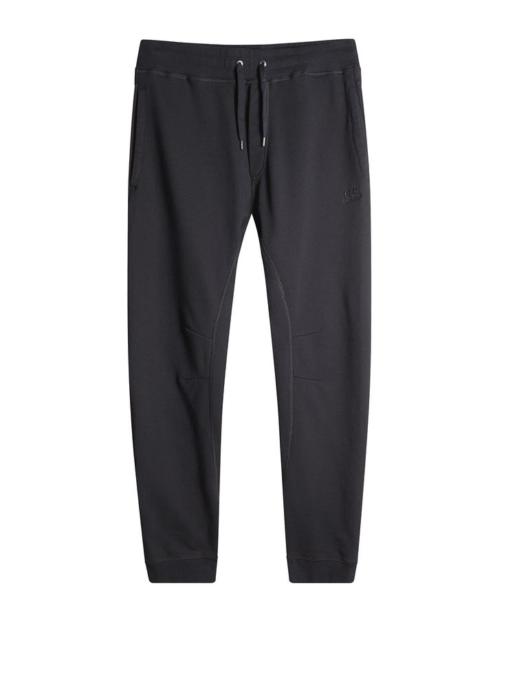 C.P. Company Light Fleece Trousers in Black