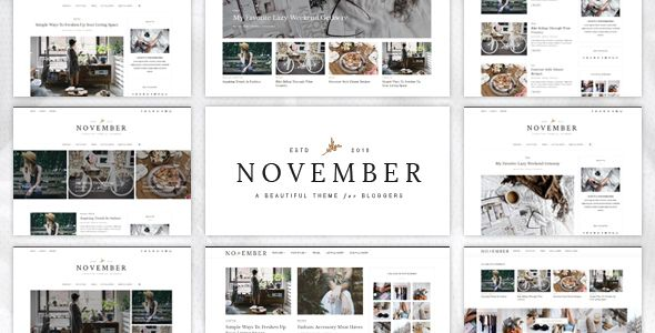 November's clean, clutter free design is the perfect choice for the minimal loving creative blogger. November offers a stunning visual experience to showcase your content with responsive grid system layout optimized for mobile touch and swipe.  Perfect for fashion blogs, lifestyle blogs, travel blogs, food blogs, craft, tech, creative, photography ..etc.  #food #blog #design #theme