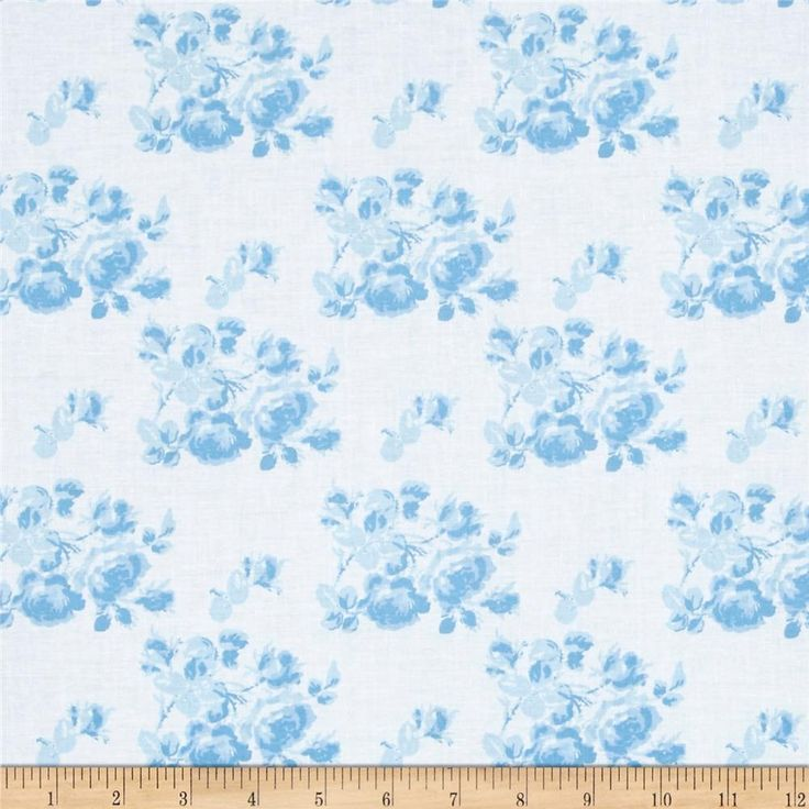 Tanya Whelan Sadie's Dance Card Tonal Blue from @fabricdotcom  Designed by Tanya Whelan for Free Spirit Fabrics, this cotton print collection features sweet, retro florals, polka dots, and stripes. Perfect for quilting, apparel, and home decor accents. Colors include blue and white.