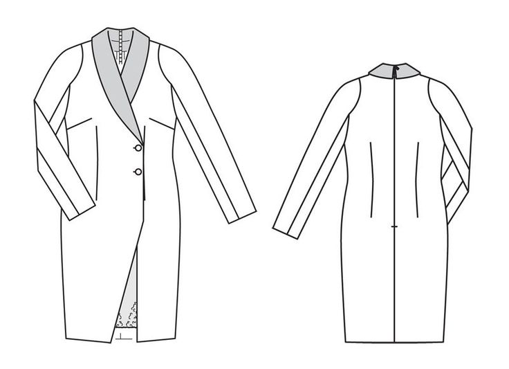 Пальто картинки с выкройками