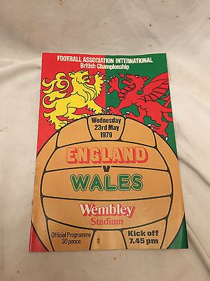 #Vintage rare #england vs wales football programme 23rd may 1979 wembley #stadium,  View more on the LINK: 	http://www.zeppy.io/product/gb/2/291714567806/