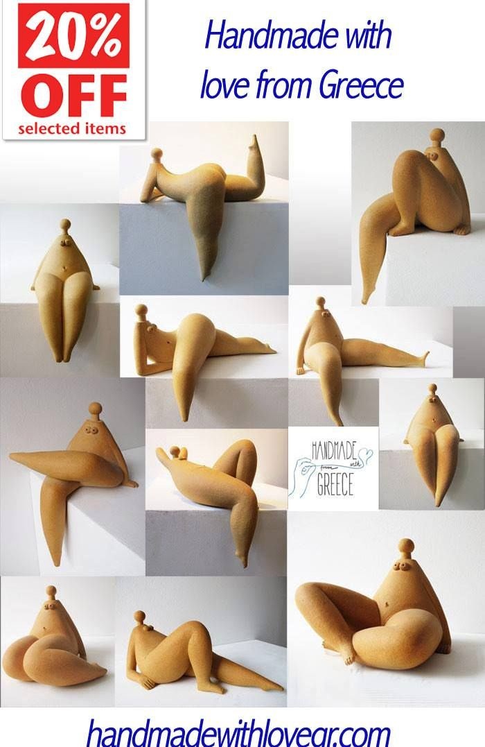 ceramic chubbies naked ceramic sculpture handmade plus size nude woman ceramic sculpture made in greece